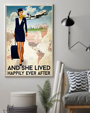 And She Lived Happily Ever After Flight Attendant Poster - Home Decor - No Frame Full Size 11x17 16x24 24x36 Inches 11x17 Poster lifestyle-poster-1