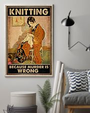 Knitting Because Murder Is Wrong Vintage Poster - Poster For Knitting Lovers - Home Decor - Wall Art - No Frame Full Size 11x17 16x24 24x36 Inches 11x17 Poster lifestyle-poster-1