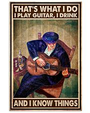 That's What I Do I Play Guitar I Drink And I Know Things Vintage Poster - Poster For Guitarists - Guitarist Birthday Xmas Gift - Home Decor - No Frame 11x17 Poster front