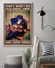 That's What I Do I Play Guitar I Drink And I Know Things Vintage Poster - Poster For Guitarists - Guitarist Birthday Xmas Gift - Home Decor - No Frame 11x17 Poster lifestyle-poster-1