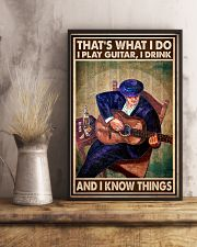 That's What I Do I Play Guitar I Drink And I Know Things Vintage Poster - Poster For Guitarists - Guitarist Birthday Xmas Gift - Home Decor - No Frame 11x17 Poster lifestyle-poster-3