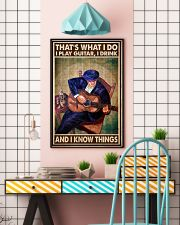 That's What I Do I Play Guitar I Drink And I Know Things Vintage Poster - Poster For Guitarists - Guitarist Birthday Xmas Gift - Home Decor - No Frame 11x17 Poster lifestyle-poster-6
