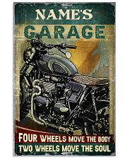 Name's Garage Four Wheels Move The Body Two Wheels Move The Soul Customized Poster - No Frame Full Size 11x17 16x24 24x36 Inches 11x17 Poster front