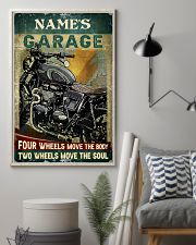 Name's Garage Four Wheels Move The Body Two Wheels Move The Soul Customized Poster - No Frame Full Size 11x17 16x24 24x36 Inches 11x17 Poster lifestyle-poster-1