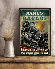 Name's Garage Four Wheels Move The Body Two Wheels Move The Soul Customized Poster - No Frame Full Size 11x17 16x24 24x36 Inches 11x17 Poster lifestyle-poster-3