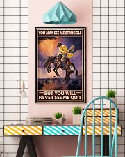 You May See Me Struggle But You Will Never See Me Quit Men Riding Horse Vintage Art Poster Birthday Christmas Gift 11x17 Poster lifestyle-poster-6