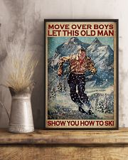 Move Over Boys Let This Old Man Show You How To Ski Poster - Poster For Skiing Lovers - Home Decor - Wall Art - No Frame Full Size 11x17 16x24 24x36'' 11x17 Poster lifestyle-poster-3