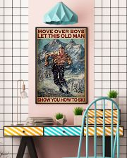 Move Over Boys Let This Old Man Show You How To Ski Poster - Poster For Skiing Lovers - Home Decor - Wall Art - No Frame Full Size 11x17 16x24 24x36'' 11x17 Poster lifestyle-poster-6