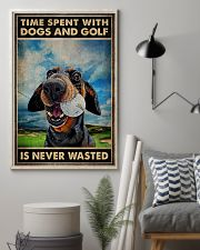 Tie Spent With Dogs And Golf Is Never Wasted Poster - Poster For Dog And Golf Lovers - Home Decor - Wall Art - No Frame 11x17 Poster lifestyle-poster-1