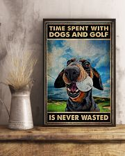 Tie Spent With Dogs And Golf Is Never Wasted Poster - Poster For Dog And Golf Lovers - Home Decor - Wall Art - No Frame 11x17 Poster lifestyle-poster-3