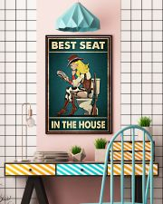 Best Seat In The House Poster - Cowgirl's Bathroom Decor - Cowgirl Funny Toilet Poster - No Frame Full Size 11x17 16x24 24x36 Inches 11x17 Poster lifestyle-poster-6