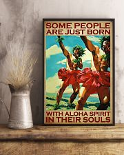 Some People Are Just Born With Aloha Spirit In Their Souls Poster - Home Decor - Wall Art - No Frame Full Size 11x17 16x24 24x36 Inches 11x17 Poster lifestyle-poster-3