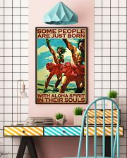 Some People Are Just Born With Aloha Spirit In Their Souls Poster - Home Decor - Wall Art - No Frame Full Size 11x17 16x24 24x36 Inches 11x17 Poster lifestyle-poster-6