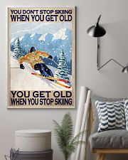 You Don't Stop Skiing When You Get Old When You Stop Skiing Poster - Poster For Skiing Lovers - Skiing Lover Birthday Xmas Gift - Home Decor -Wall Art 11x17 Poster lifestyle-poster-1
