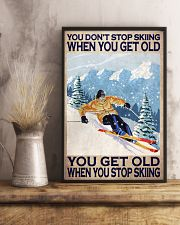 You Don't Stop Skiing When You Get Old When You Stop Skiing Poster - Poster For Skiing Lovers - Skiing Lover Birthday Xmas Gift - Home Decor -Wall Art 11x17 Poster lifestyle-poster-3