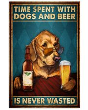 Time Spent With Dogs And Beer Is Never Wasted Vintage Poster - Home Decor - No Frame Full Size 11x17 16x24 24x36 Inches 11x17 Poster front