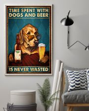 Time Spent With Dogs And Beer Is Never Wasted Vintage Poster - Home Decor - No Frame Full Size 11x17 16x24 24x36 Inches 11x17 Poster lifestyle-poster-1