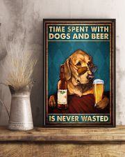 Time Spent With Dogs And Beer Is Never Wasted Vintage Poster - Home Decor - No Frame Full Size 11x17 16x24 24x36 Inches 11x17 Poster lifestyle-poster-3