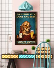 Time Spent With Dogs And Beer Is Never Wasted Vintage Poster - Home Decor - No Frame Full Size 11x17 16x24 24x36 Inches 11x17 Poster lifestyle-poster-6