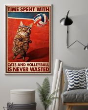 Time Spent With Cats And Volleyball Is Never Wasted Poster-Cats And Volleyball Lovers Birthday Xmas Gift-Poster For Cats And Volleyball Lovers 11x17 Poster lifestyle-poster-1