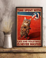 Time Spent With Cats And Volleyball Is Never Wasted Poster-Cats And Volleyball Lovers Birthday Xmas Gift-Poster For Cats And Volleyball Lovers 11x17 Poster lifestyle-poster-3
