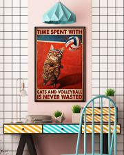 Time Spent With Cats And Volleyball Is Never Wasted Poster-Cats And Volleyball Lovers Birthday Xmas Gift-Poster For Cats And Volleyball Lovers 11x17 Poster lifestyle-poster-6