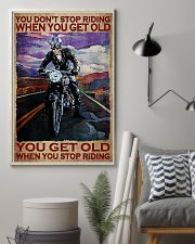 You Don't Stop Riding When You Get Old You Get Old When you Stop Riding Vintage Poster - Poster For Motorcycle Lovers - Motorbike Lover Home Decor 11x17 Poster lifestyle-poster-1