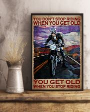 You Don't Stop Riding When You Get Old You Get Old When you Stop Riding Vintage Poster - Poster For Motorcycle Lovers - Motorbike Lover Home Decor 11x17 Poster lifestyle-poster-3