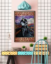 You Don't Stop Riding When You Get Old You Get Old When you Stop Riding Vintage Poster - Poster For Motorcycle Lovers - Motorbike Lover Home Decor 11x17 Poster lifestyle-poster-6