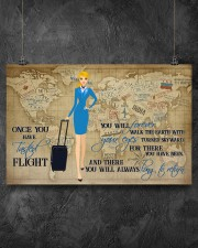 Once You Have Tasted Flight You Will Forever Walk The Earth With Your Eyes Turned Skyward Flight Attendant Poster - No Frame 17x11 24x16 36x24 Inches 17x11 Poster aos-poster-landscape-17x11-lifestyle-12
