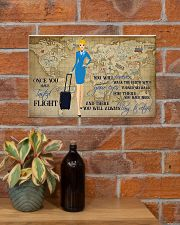Once You Have Tasted Flight You Will Forever Walk The Earth With Your Eyes Turned Skyward Flight Attendant Poster - No Frame 17x11 24x16 36x24 Inches 17x11 Poster poster-landscape-17x11-lifestyle-23
