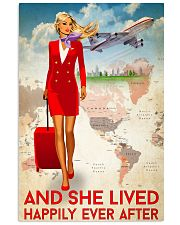 And She Lived Happily Ever After Poster - Poster For Fight Attendants - Flight Attendant Birthday Xmas Gift - Home Decor - Wall Art - No Frame 11x17 Poster front