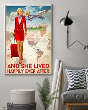 And She Lived Happily Ever After Poster - Poster For Fight Attendants - Flight Attendant Birthday Xmas Gift - Home Decor - Wall Art - No Frame 11x17 Poster lifestyle-poster-1