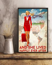 And She Lived Happily Ever After Poster - Poster For Fight Attendants - Flight Attendant Birthday Xmas Gift - Home Decor - Wall Art - No Frame 11x17 Poster lifestyle-poster-3