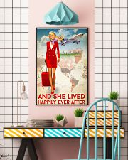 And She Lived Happily Ever After Poster - Poster For Fight Attendants - Flight Attendant Birthday Xmas Gift - Home Decor - Wall Art - No Frame 11x17 Poster lifestyle-poster-6