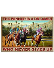 A Winner Is A Dreamer Who Never Gives Up Horse Racing Vintage Art Poster Birthday Christmas Gift 17x11 Poster front