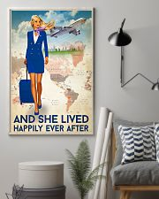 And She Lived Happily Ever After Poster - Poster For Flight Attendants - Home Decor - No Frame Full Size 11x17 16x24 24x36 Inches 11x17 Poster lifestyle-poster-1