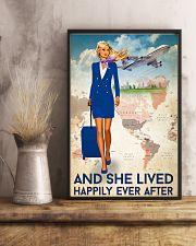 And She Lived Happily Ever After Poster - Poster For Flight Attendants - Home Decor - No Frame Full Size 11x17 16x24 24x36 Inches 11x17 Poster lifestyle-poster-3