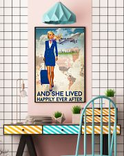 And She Lived Happily Ever After Poster - Poster For Flight Attendants - Home Decor - No Frame Full Size 11x17 16x24 24x36 Inches 11x17 Poster lifestyle-poster-6