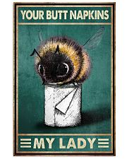 Your Butt Napkins My Lady Poster - Bee And Paper Funny Toilet Poster - Bathroom Decor - No Frame Full Size 11x17 16x24 24x36 Inches 11x17 Poster front