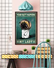 Your Butt Napkins My Lady Poster - Bee And Paper Funny Toilet Poster - Bathroom Decor - No Frame Full Size 11x17 16x24 24x36 Inches 11x17 Poster lifestyle-poster-6