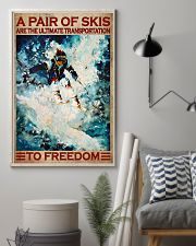 A Pair Of Skis Are The Ultimate Transportation To Freedom Poster - Skiing Poster - Poster For Skiing Lovers - Home Decor - Wall Art - No Frame 11x17 Poster lifestyle-poster-1