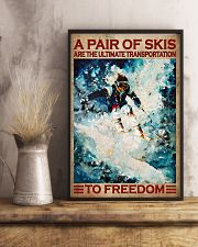 A Pair Of Skis Are The Ultimate Transportation To Freedom Poster - Skiing Poster - Poster For Skiing Lovers - Home Decor - Wall Art - No Frame 11x17 Poster lifestyle-poster-3