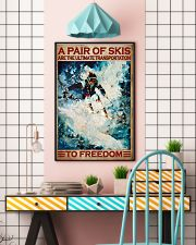 A Pair Of Skis Are The Ultimate Transportation To Freedom Poster - Skiing Poster - Poster For Skiing Lovers - Home Decor - Wall Art - No Frame 11x17 Poster lifestyle-poster-6