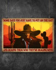 Some Days You Just Have To Put On The Hat And Remind Them Who They've Dealing With Poster - Poster For Cowgirls - Home Decor - Wall Art - No Frame 17x11 Poster aos-poster-landscape-17x11-lifestyle-12