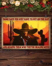 Some Days You Just Have To Put On The Hat And Remind Them Who They've Dealing With Poster - Poster For Cowgirls - Home Decor - Wall Art - No Frame 17x11 Poster aos-poster-landscape-17x11-lifestyle-27