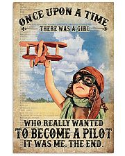 Once Upon A Time There Was A Girl Who Really Wanted To Become A Pilot It Was me The End Vintage Poster - Poster For Pilots - Pilot Birthday Xmas Gift 11x17 Poster front