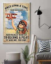 Once Upon A Time There Was A Girl Who Really Wanted To Become A Pilot It Was me The End Vintage Poster - Poster For Pilots - Pilot Birthday Xmas Gift 11x17 Poster lifestyle-poster-1