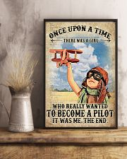 Once Upon A Time There Was A Girl Who Really Wanted To Become A Pilot It Was me The End Vintage Poster - Poster For Pilots - Pilot Birthday Xmas Gift 11x17 Poster lifestyle-poster-3