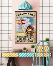Once Upon A Time There Was A Girl Who Really Wanted To Become A Pilot It Was me The End Vintage Poster - Poster For Pilots - Pilot Birthday Xmas Gift 11x17 Poster lifestyle-poster-6